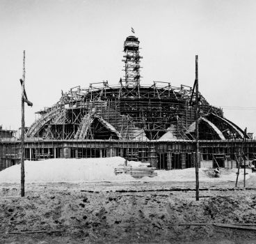 Centennial Hall during construction works